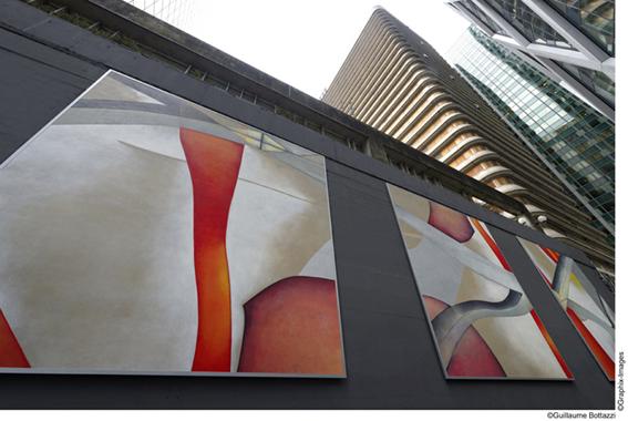 Une peinture monumentale de Guillaume Bottazzi à La Défense : La 70ème oeuvre du parcours artistique