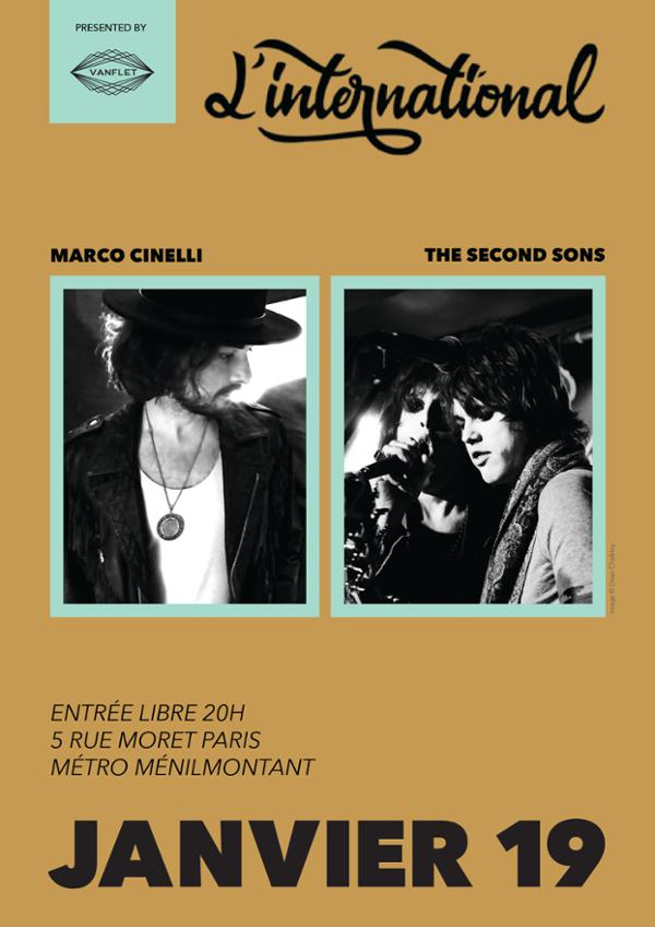 Lick My Guitar Party : Marco Cinelli + The Second Sons + Lucie
