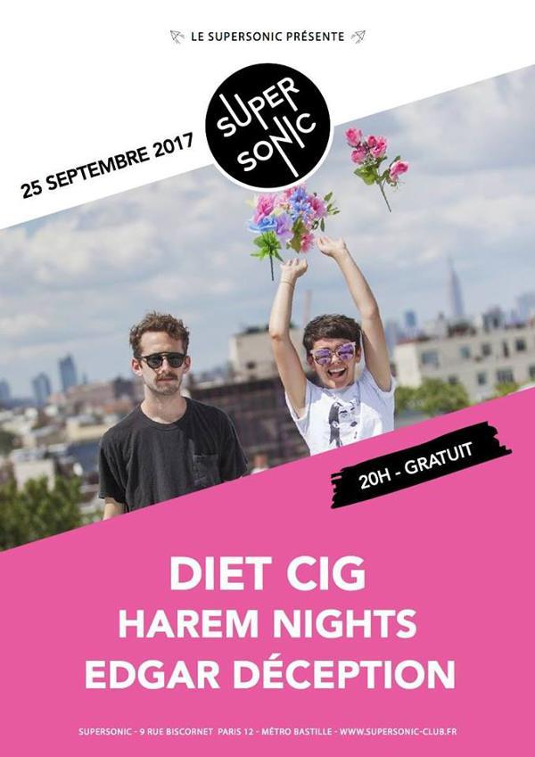 Diet Cig • Harem Nights • Edgar Déception / Supersonic - Free