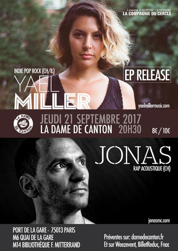 YAEL MILLER + 1ère partie JONAS