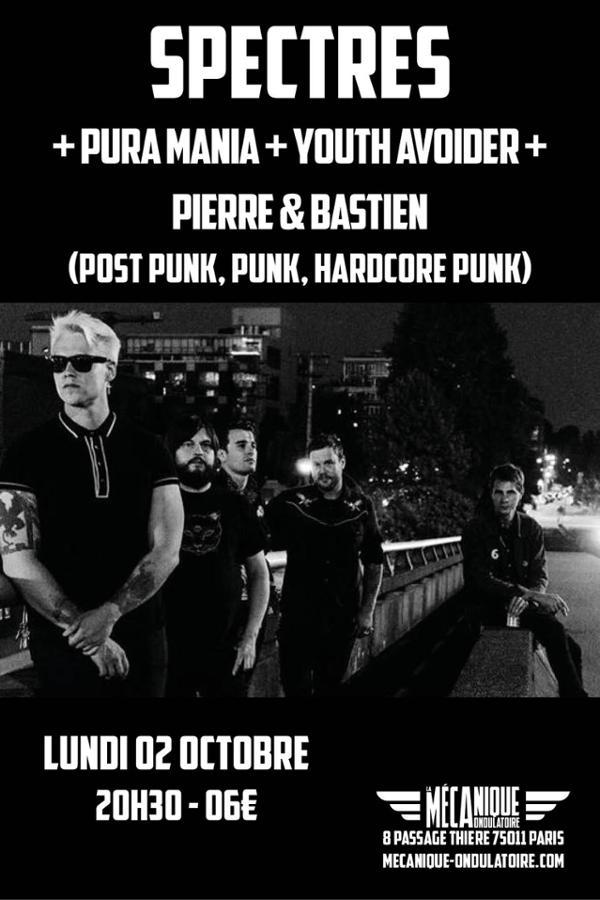 Spectres + Pura Mania - Youth Avoiders - Pierre & Bastien