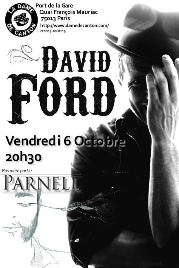 Concert : David Ford + 1ère partie Parnell