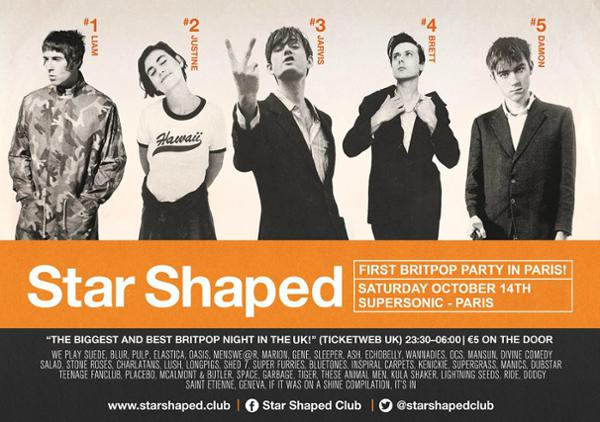 Star Shaped Club Paris - Une Fête Britpop au Supersonic