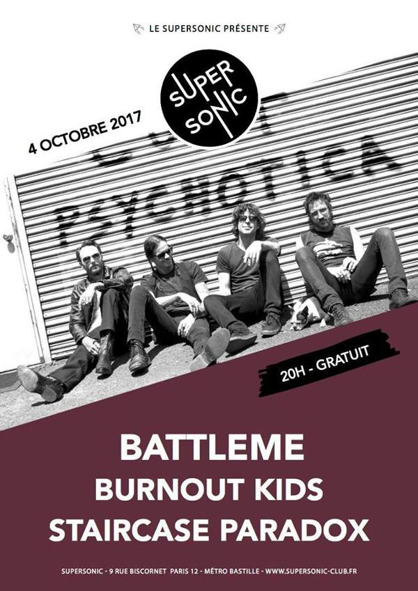 Battleme • Burnout Kids • Staircase Paradox / Supersonic - Free