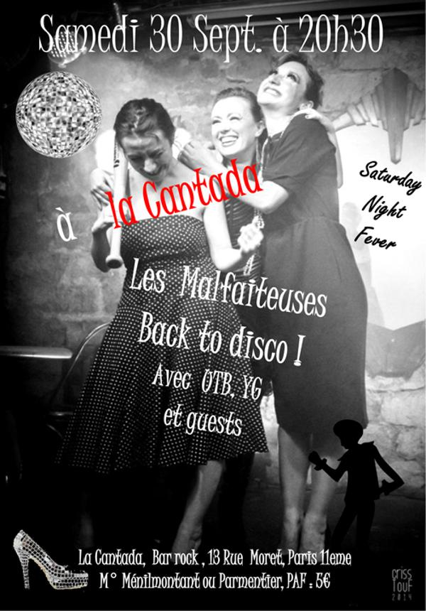 Les Malfaiteuses: Back to disco !