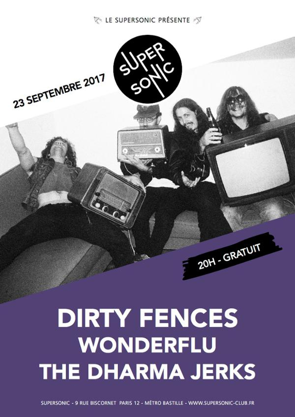 Dirty Fences • Wonderflu • The Dharma Jerks