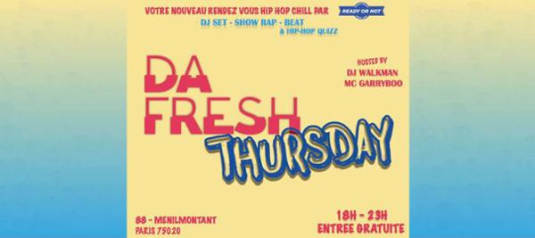88 MENILMONTANT : DA FRESH THURSDAY