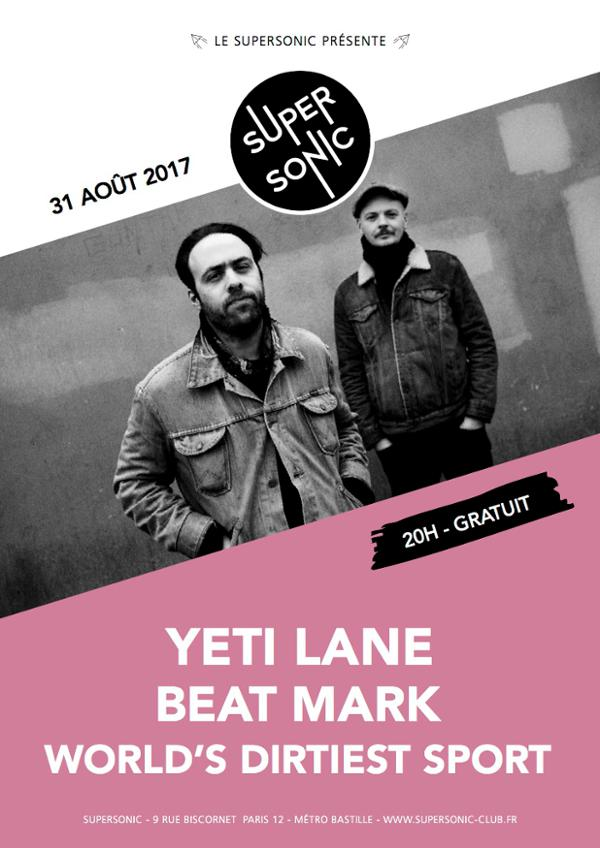 Yeti Lane • Beat Mark • World's Dirtiest Sport / Supersonic