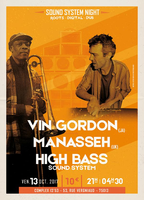 Vin Gordon x Manasseh x High Bass Sound System