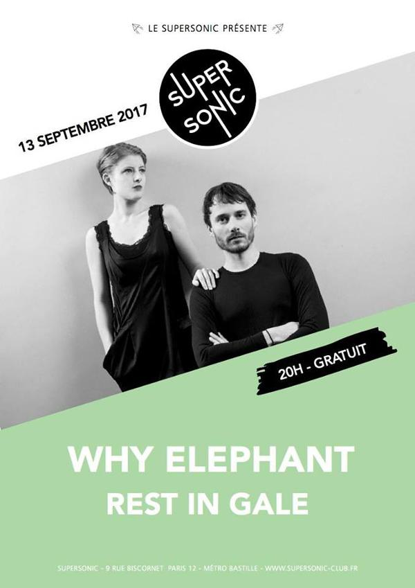 Why Elephant (Release Party) • Rest in Gale / Supersonic - Free