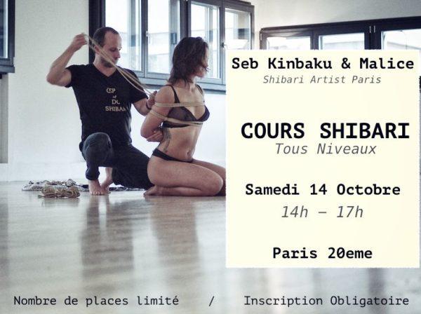 Cours Shibari Tous Niveaux par Seb Kinbaku