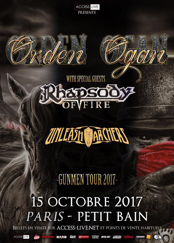 Orden Ogan | Rhapsody of Fire + Unleash the Archer