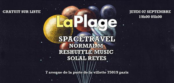 Bouteille à la plage : Spacetravel, Normal M, Solal Reyes