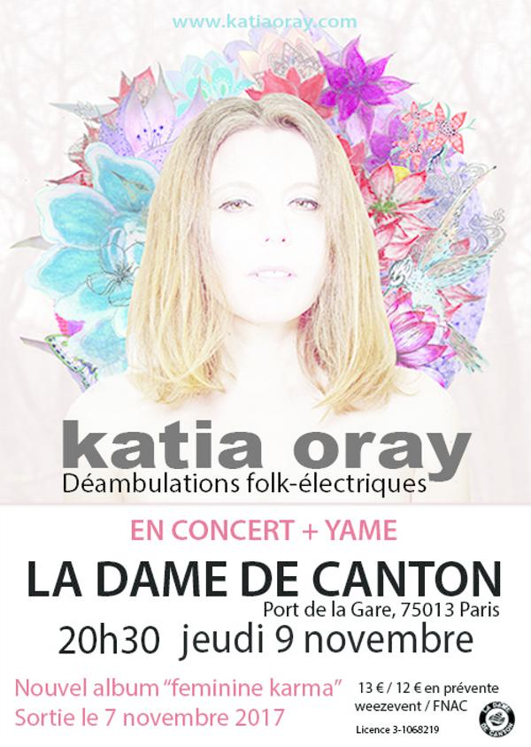 Concert : KATIA ORAY release + 1ère partie YAME