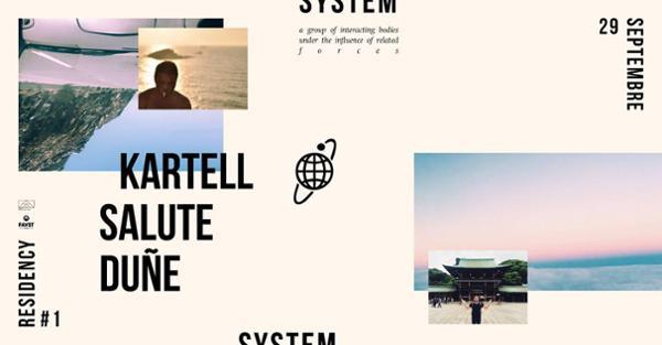 Kartell presents System #1 w/ salute & Duñe