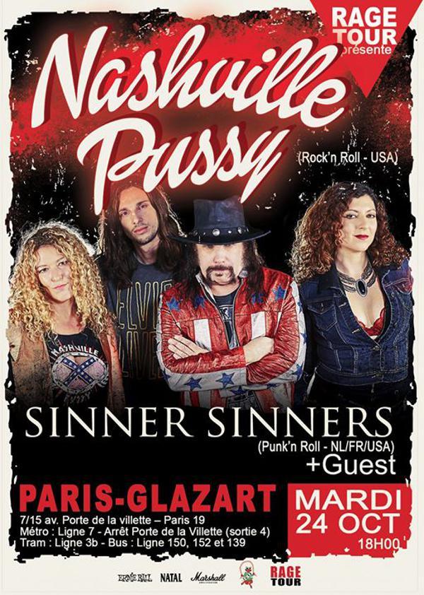 Nashville Pussy, Sinner Sinners + Guest