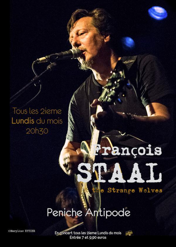 François Staal (& the strange wolves)  // Concert // Les Lundis à L'antipode