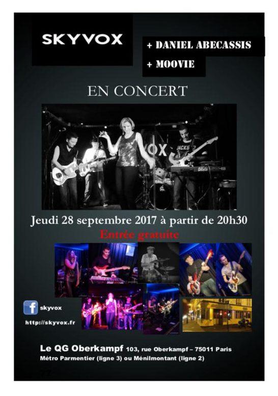 SKYVOX + Daniel ABECASSIS + Moovie en concert