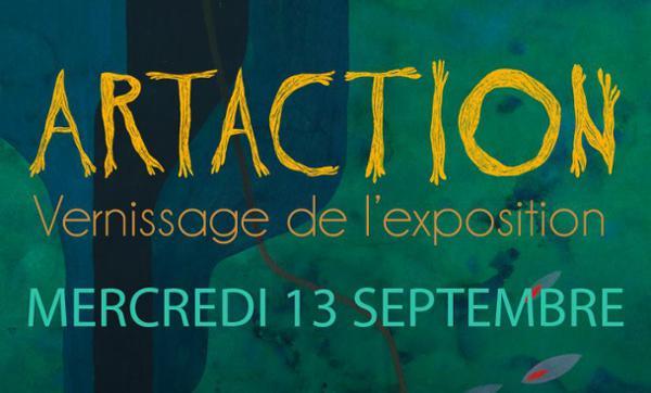 VERNISSAGE DE L'EXPOSITION ORGANISEE PAR ART-ACTION