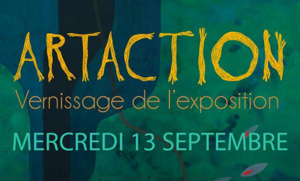 VERNISSAGE DE L'EXPOSITION ORGANISEE PAR ART-ACTION