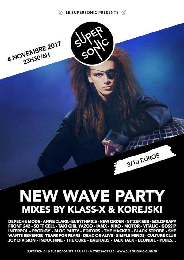 New Wave Party / Samedi 4 Novembre au Supersonic