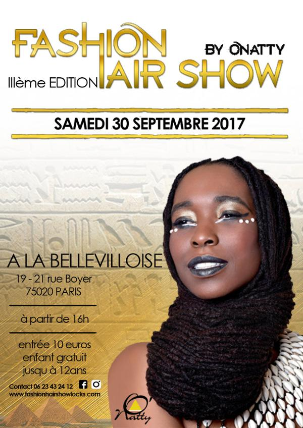 3E EDITION DU FASHION HAIR SHOW BY O'NATTY