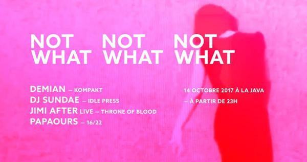 NOT WHAT W/ Demian,  Jimi After, Dj Sundae,  Papaours