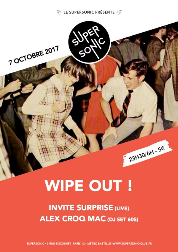 Wipe Out ! 60s Party du Supersonic -
