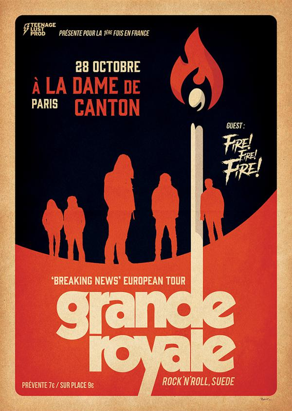 Concert : GRANDE ROYALE + FIRE! FIRE! FIRE!