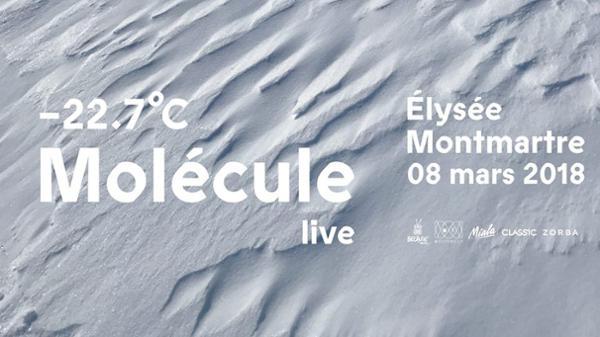 Molécule -22.7°c Live à Elysée Montmartre
