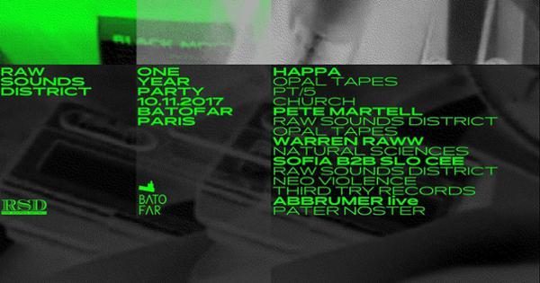 RSD 1 YEAR PARTY W/ HAPPA, PETEMARTELL, WARREN RAWW, ABBRUMER