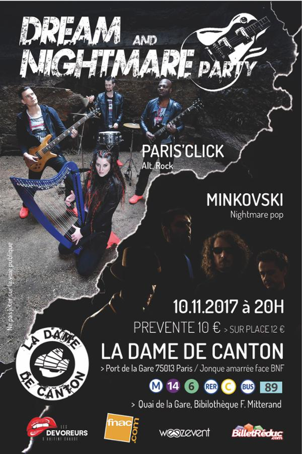 DREAM AND NIGHTMARE PARTY // PARIS' CLICK + MINKOVSKI