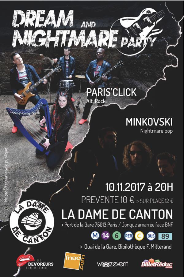 DREAM AND NIGHTMARE PARTY // PARIS' CLICK + MINKOVSKI