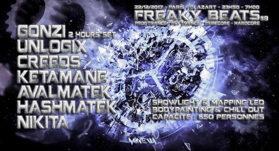 Glazart - Freaky Beats #8 w/ Gonzi / Unlogix / Creeds & more