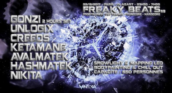 Freaky Beats #8 w/ Gonzi / Unlogix / Creeds & more