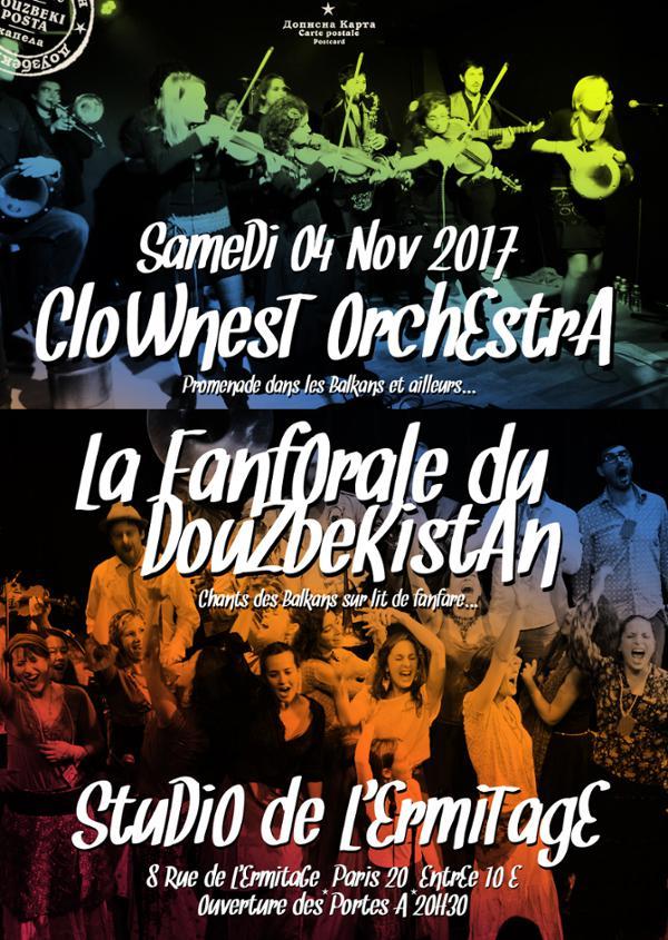 LA FANFORALE DU DOUZBEKISTAN + CLOWNEST ORCHESTRA au STUDIO DE L'ERMITAGE