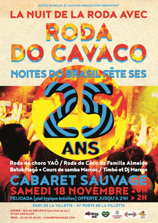 Roda do Cavaco – Nuit de la Roda : 25 ans de Noites do Brasil !
