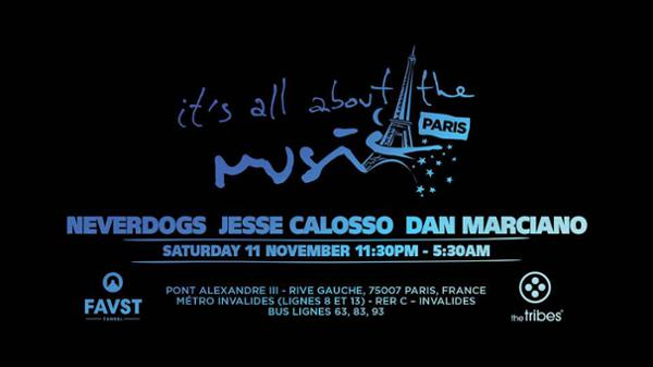 The Tribes x Its'all about the music : Neverdogs, Jesse Calosso