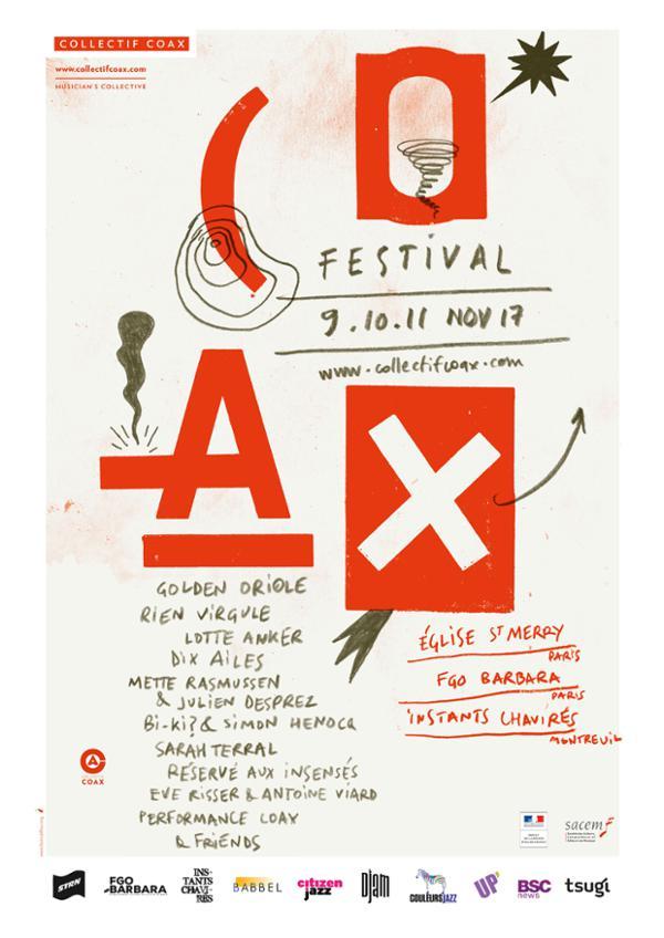 COAX Festival, Day #1 : Eglise Saint-Merry avec Dix Ailes, Bi-Ki? & Simon Henocq, Eve Risser & Antoine Viard, Performance Coax & Friends...