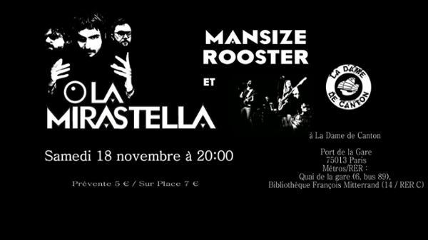 Concert : Mansize Rooster + La Mirastella
