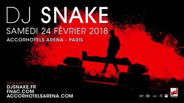 DJ SNAKE ∣ AccorHotels Arena ∣ Samedi 24 février 2018
