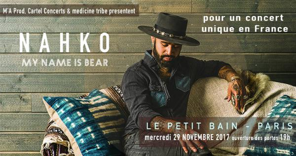 Nahko My Name is Bear en concert / Le Petit Bain Paris