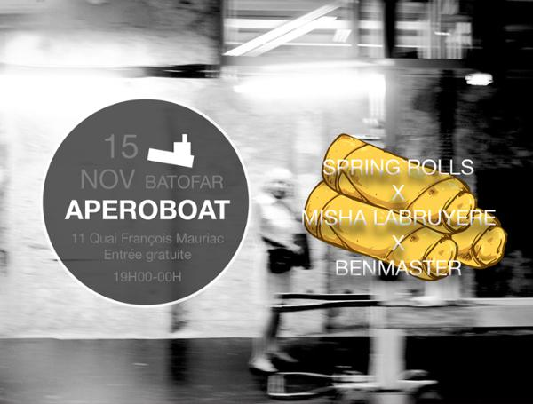 APEROBOAT #SPRING ROLLS x MISHA LABRUYÈRE