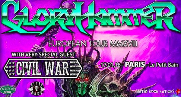 Gloryhammer + Civil War @Petit Bain Paris