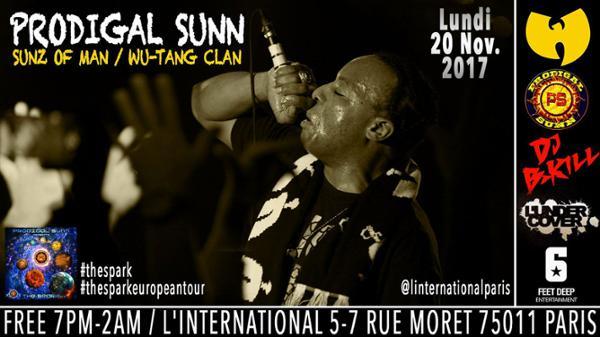 Prodigal Sunn ( Sunz Of Man / Wu-Tang ) + guests à l'International