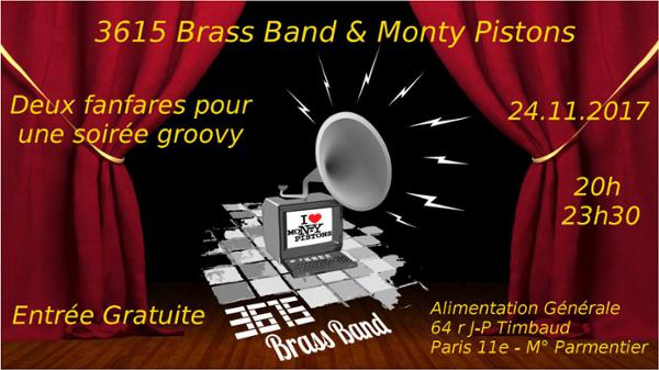 MONTY PISTONS et 3615 BRASS BAND