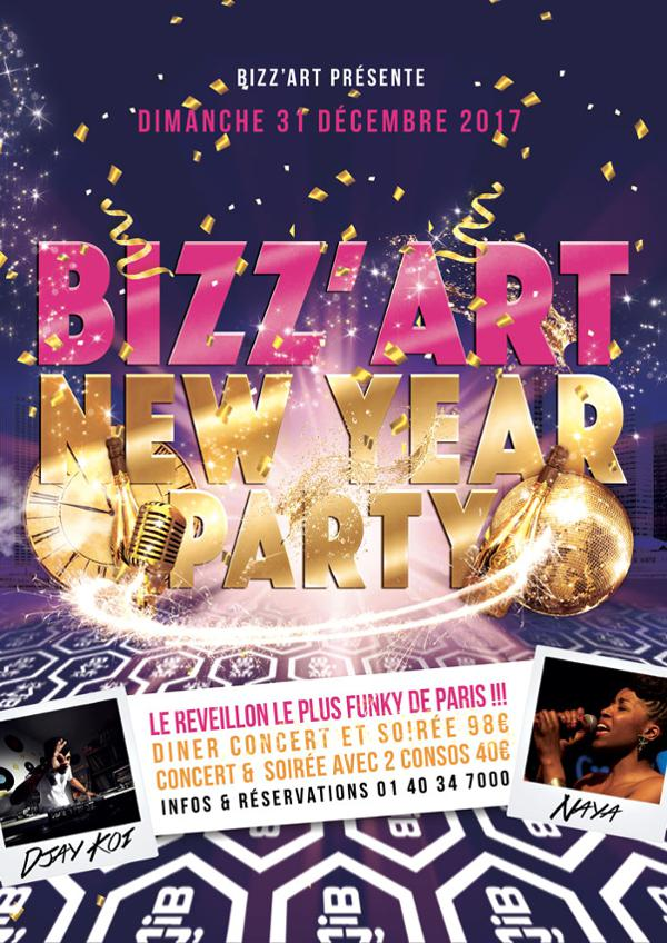 Bizz'Art New Year Party ! LE GRAND REVEILLON BIZZ'ART 2017 !