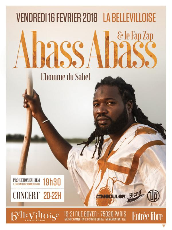 ABASS ABASS : L'HOMME DU SAHEL (PROJECTION + CONCERT)