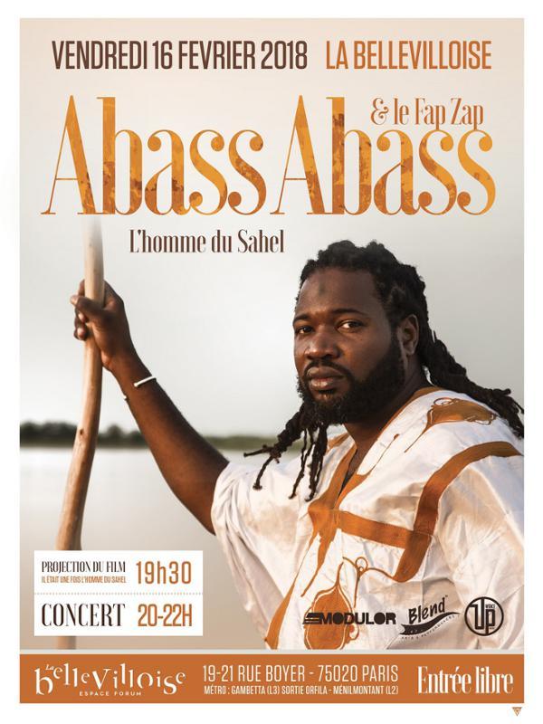 ABASS ABASS : L'HOMME DU SAHEL (PROJECTION + CONCERT)