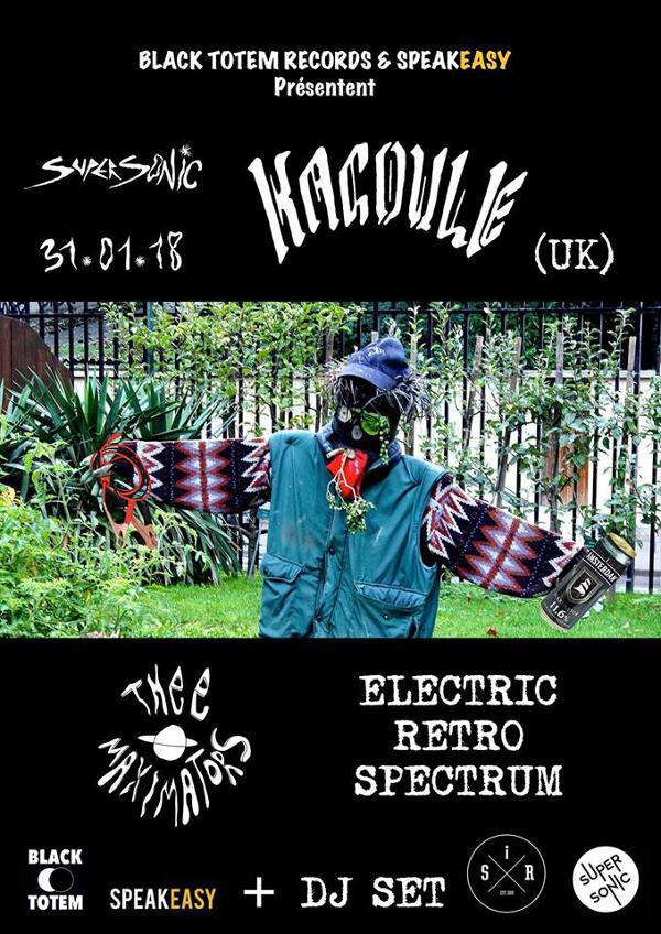 Black Totem : Kagoule • Thee Maximators • Electric Retro Spectrum